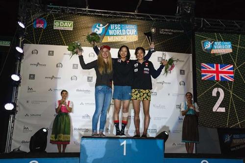 Die Gesamtsieger der Damen 2016 (v.l.n.r.): Shauna, Akiyo, Miho